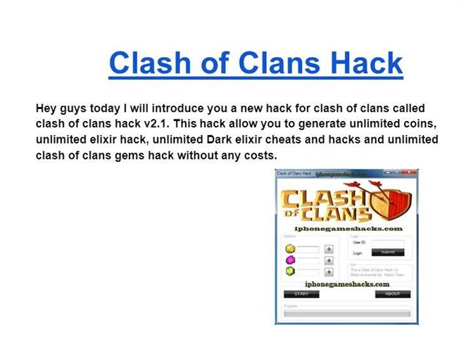 clash of clans unlimited coins hack
