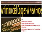 Antimicrobial Copper A New Hope
