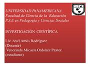 INVESTIGACION CIENTIFICA...........................