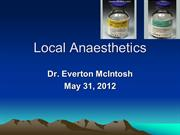 Lec 2 Local Anaesthetics