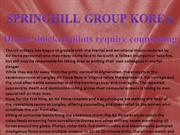 springhill group korea counselling
