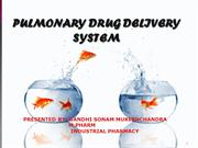 PULMONARY DRUG DELIVERY SYSTEM1