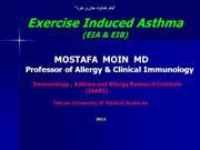 Exercise Induced Asthma (EIA - EIB)-2012
