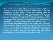 Obtaining On-line Cash Bank loan Overview