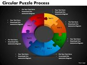 8 STAGES CIRCULAR PUZZLE PROCESS BUSINESS STRATEGY PRESENTATION
