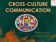 CROSS-CULTURE COMMUNICATION