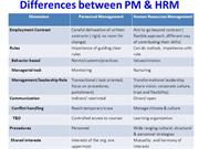 Differences between PM & HRM