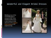 Wonderful and Elegant Bridal Dresses