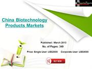 China Biotechnology Products Markets