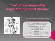 Control Your anger with Anger Management Therapy