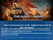 Get Free Gears of War Judgment Game DLC