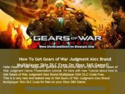 How to Unlock Gears of War Judgment Alex Brand Skin DLC Free