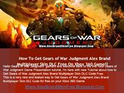 How to Download Gears of War Judgment Alex Brand Skin DLC Free