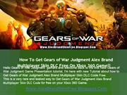 How to Get Gears of War Judgment Alex Brand Skin DLC Free!!