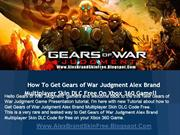 Gears of War Judgment Alex Brand Skin DLC Free Download