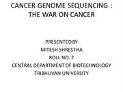 CANCER GENOME PROJECT