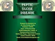 Peptic Ulcer Disease 2013
