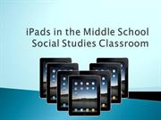 iPad in MS Social Studies: Session I