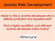 Joomla Website Developers for Ecommerce Development in India