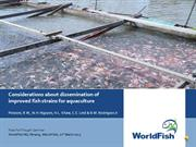 Considerations about dissemination of improved strains for aquaculture