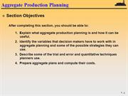 Aggregate Production Planning - Lecture Notes (1)