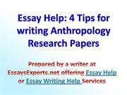 Help with writing research papers