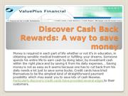 Discover Cash Back Rewards: A way to save money
