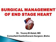 Surgical management of end stage heart
