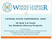 20 Web 2 0 Tools for Student Literacy Projects