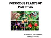 poisoness plants of Pakistan
