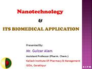 Nanotechnology & Its Biomedical Application