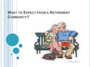 What to Expect from a Retirement Community