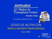 WebCourse Spanish, Nutrition Considerations