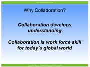 Why Collaboration