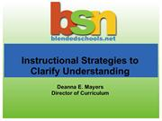 Instructional Strategies to Clarify Understanding
