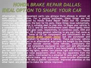 Honda Brake Repair Dallas