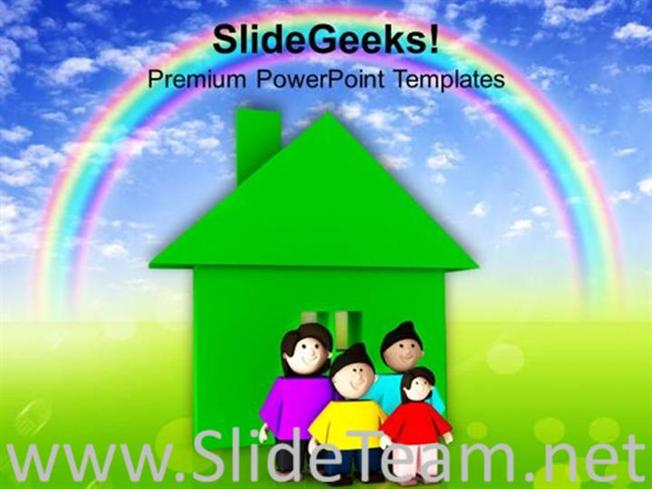 Enjoy Holiday With Family And Kids Powerpoint Template Powerpoint
