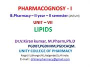 PHARMACOGNOSY-LIPIDS-PPT