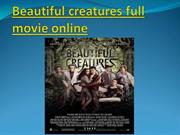 Beautiful creatures full movie online