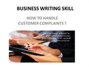 BUSINESS WRITING SKILL