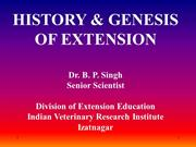 History of extesion education lecture