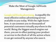 Make the Most of Google AdWords Management
