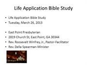 Bible Study, March 25