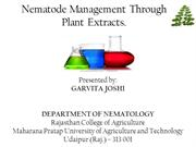 Nematode Management Through Plant Extracts