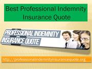 Best Professional Indemnity Insurance Quote