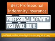 Best Professional Indemnity Insurance