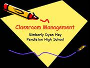 Classroom Management Presentation Nov 20th
