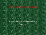 The_Procurement_of_Water