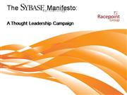 Sybase Thought Leadership Campaign