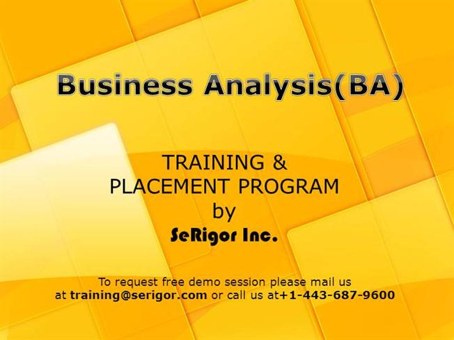 Business Analyst Training And Placement Program |authorSTREAM